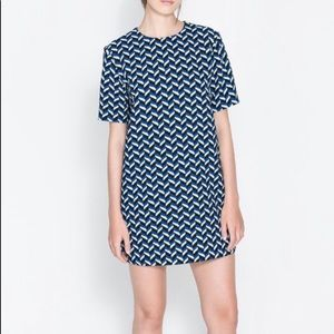 Zara Chevron Dress Small